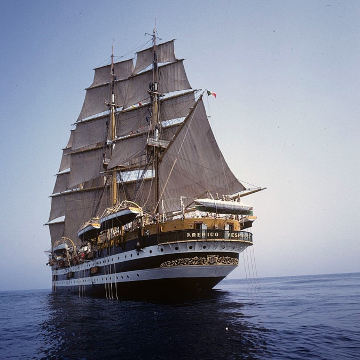 The soling ship Amerigo Vespucci, 1963